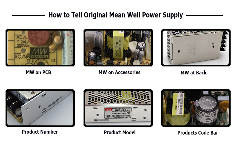 How to tell the original Mean Well Power Supply