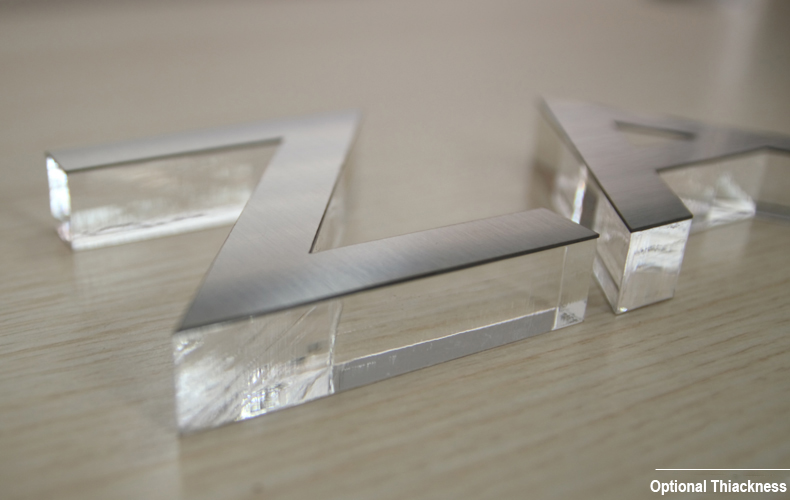 Wholesales Flat Cut Acrylic with Metal Sheet Letter Sign