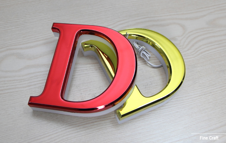 Supply-Backlit-stainless-steel-Mini-Letters-Sign