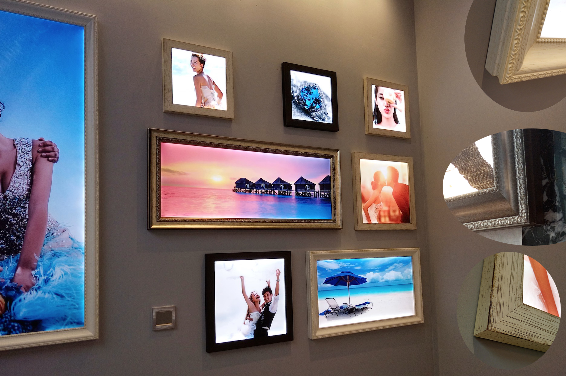 Supply Customized Photo Frame Light Box For Retail Shops