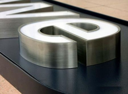 Acrylic Face Lit Channel Letters Stainless Steel Return for Shop Sign Front with CE UL LED