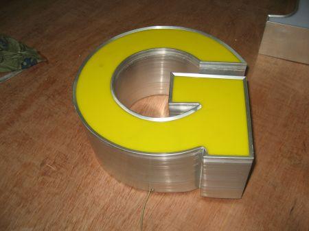 Acrylic Face Lit Channel Letters For Shop Sign Front With