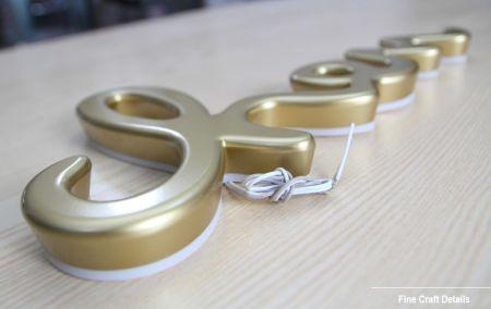 Mini Metal Letters Plating Metal Similar Acrylic Reverse Lit Mini Letters Signage