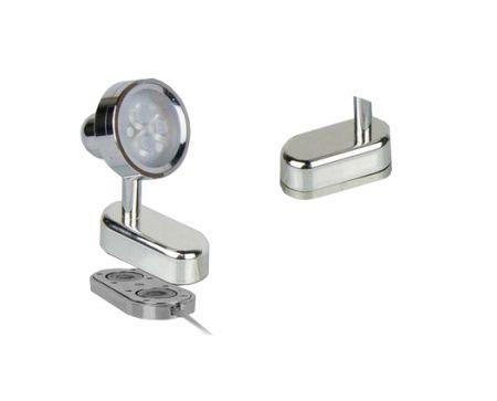 MLC252  Mini Magnet LED Track Light  LED Cabinet Display Spotlight   LED Standing Spotlight Showcase 3W