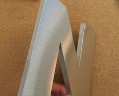 Premium Metal Letter Sign in Flat Cut/ Round/ Prismatic Face