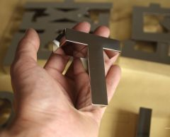 Polished Premium Metal Letters Sign