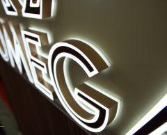 Line Lit Resin LED Channel Letter Sign