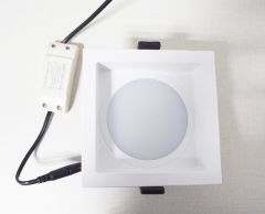 Concave Square Light  LED ceiling light   Anti-glare downlight  Die casting frame