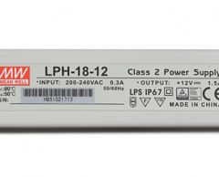 LPH-18 series Waterproof Original Taiwan Mean Well AC to DC Switching LED Power Supply