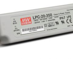 LPC-20 series Waterproof Original Taiwan Mean Well AC to DC Switching LED Power Supply