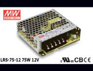 LRS-75-12 Original Taiwan Mean Well Switching Power Supply